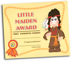 Little Maiden Award Certificate