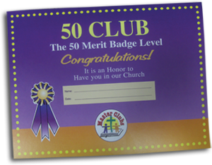 50 Club Award Certificate