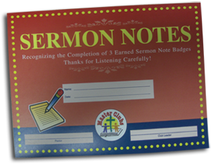 Sermon Notes Award Certificate