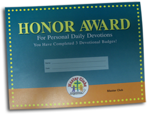 Daily Devotions Award Certificate