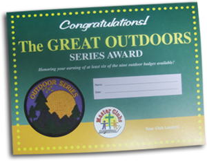 Outdoor Series Award Certificate