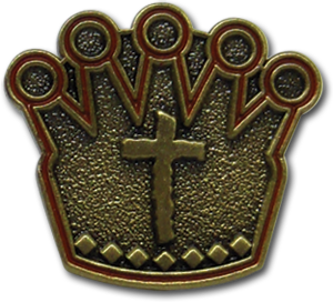 Gold Crown Pin