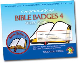 Bible Series 4 Award Certificate