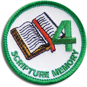 Scripture Memory 4 Badge