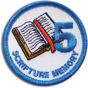 Scripture Memory 5 Badge