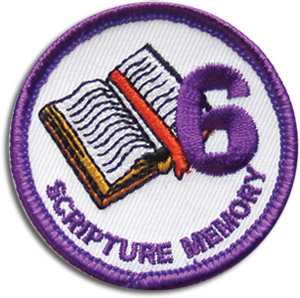 Scripture Memory 6 Badge