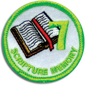 Scripture Memory 7 Badge