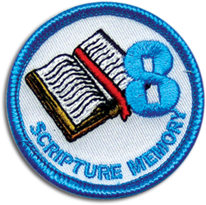 Scripture Memory 8 Badge