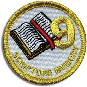 Scripture Memory 9 Badge