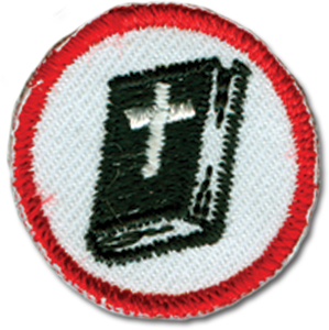 Red Bible Badge