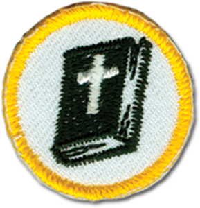 Yellow Bible Badge