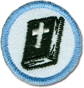 Blue Bible Badge