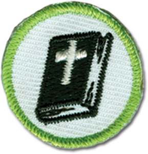 Green Bible Badge
