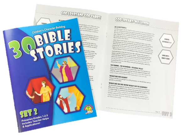 30 Bible Stories for Primaries Set #2