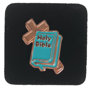 Green Bible Pin #1- First Grade