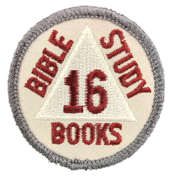 OLD Discovery Bible Books 16 Badge