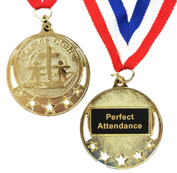 Master Clubs Award Medal - Perfect Attendance