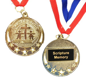 Master Clubs Award Medal - Scripture Memory