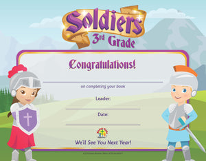 Soldiers Year End Certificate