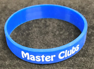 Master Clubs Blue Silicone Wristband