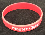 Master Clubs Red Silicone Wristband