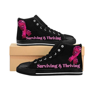 Surviving & Thriving High-top Sneakers (Black)