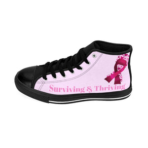 Surviving & Thriving High-top Sneakers (Pink)