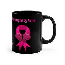 Load image into Gallery viewer, Fought & Won Coffee Mug (Black)