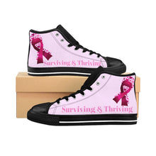 Load image into Gallery viewer, Surviving & Thriving High-top Sneakers (Pink)