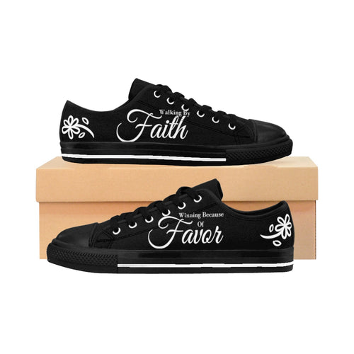 FaithFavor Women's Sneakers (Black)