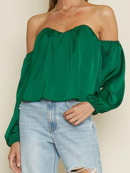emerald cold shoulder top