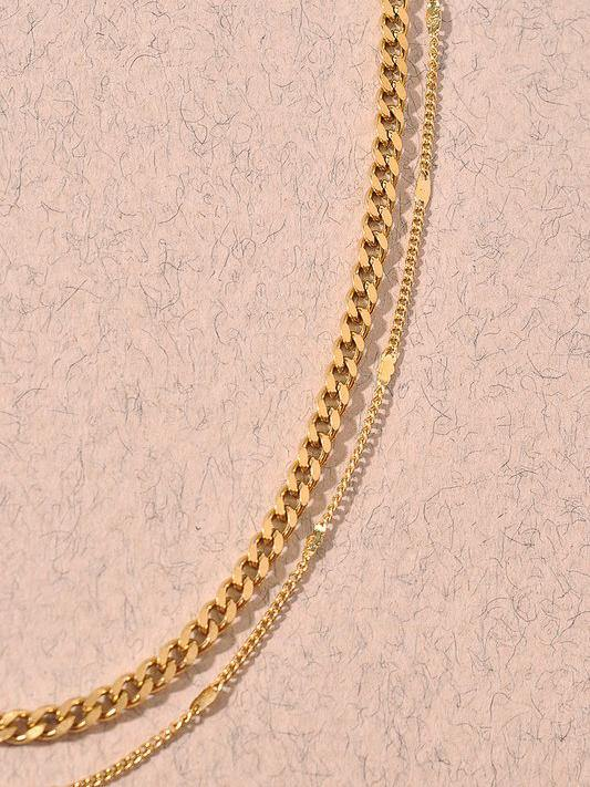 layered chain necklace style