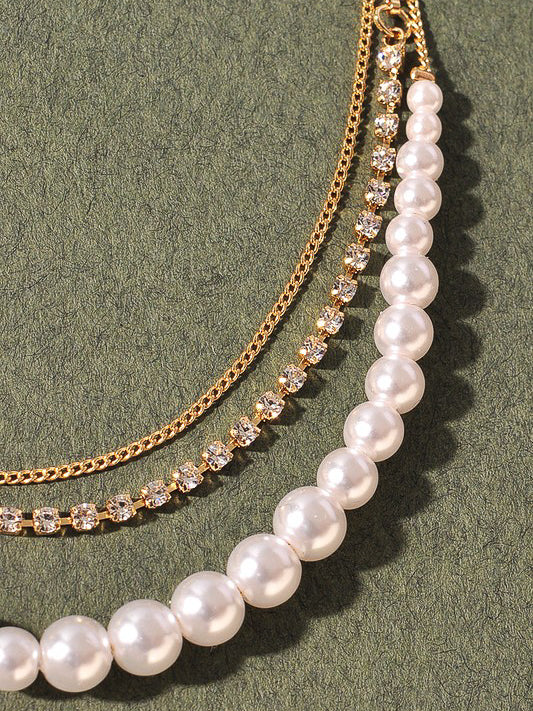 pearl necklace glam jewelry