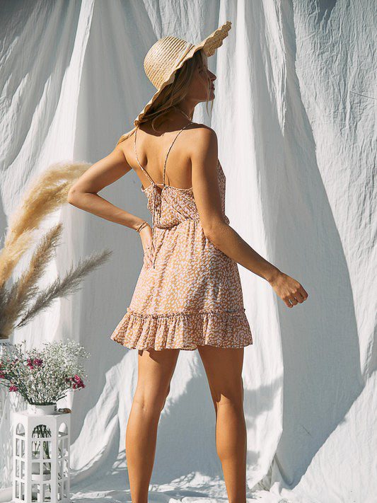 strappy back flowy dress
