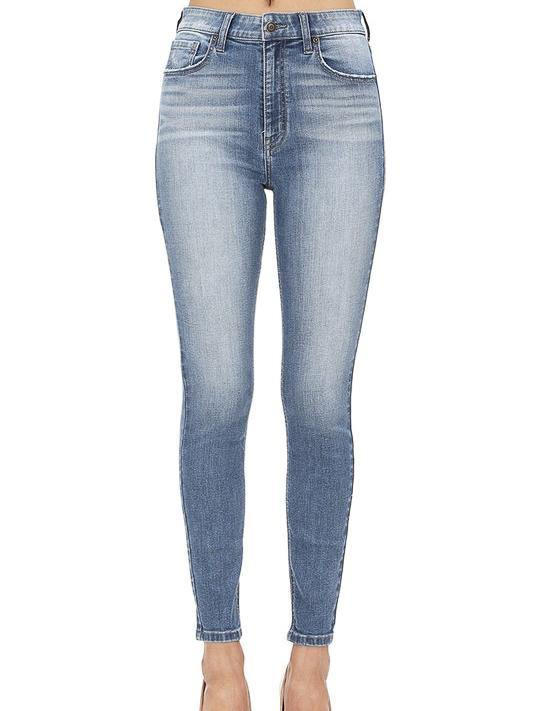high rise skinny stretch fit womens