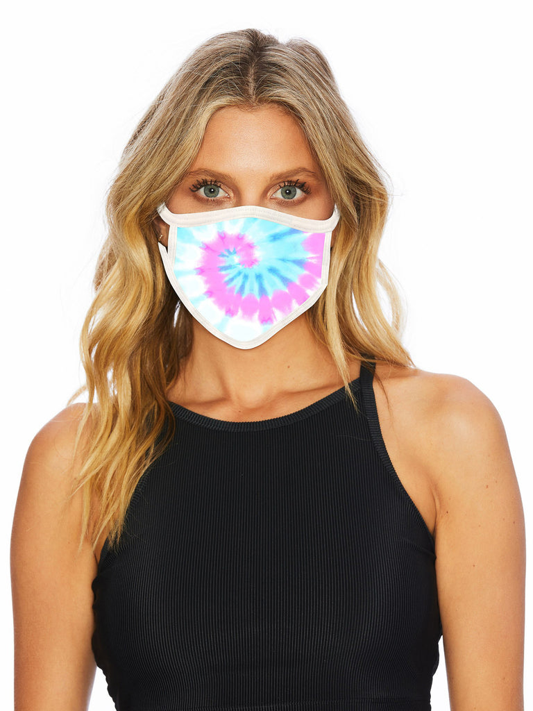 fashionable tie dye face mask