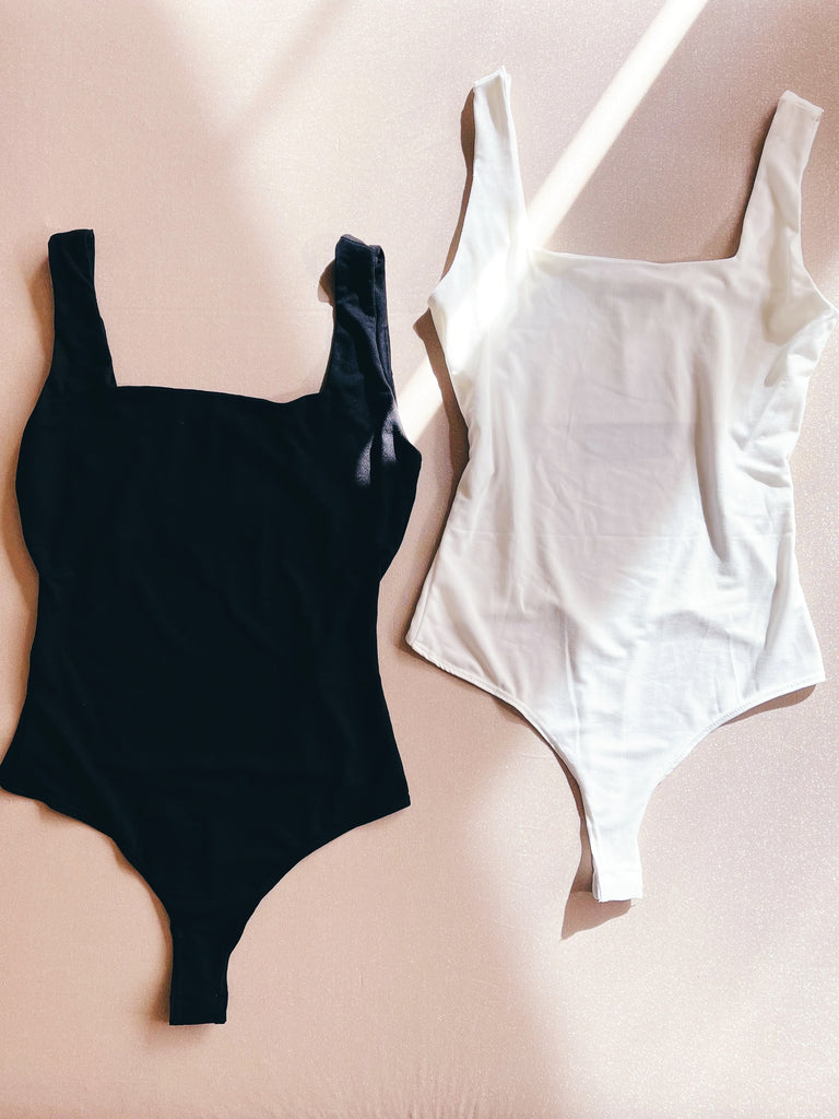 soft square neck bodysuit