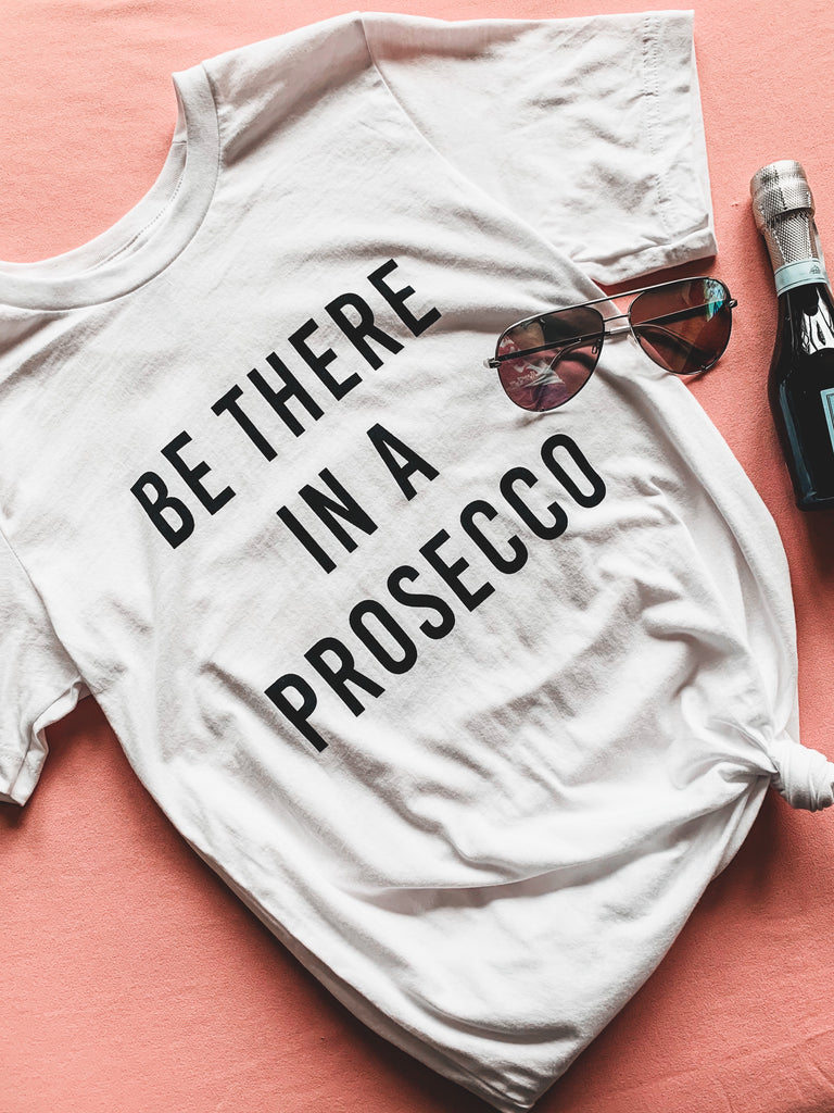 Prosecco graphic tee bachelorette outfit