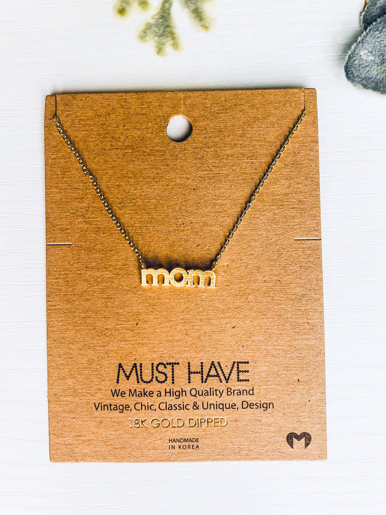 mom dainty gold necklace