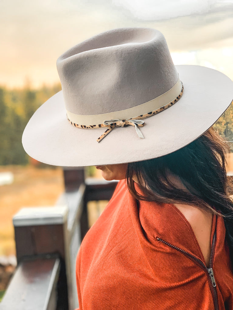 western chic look womens fedora