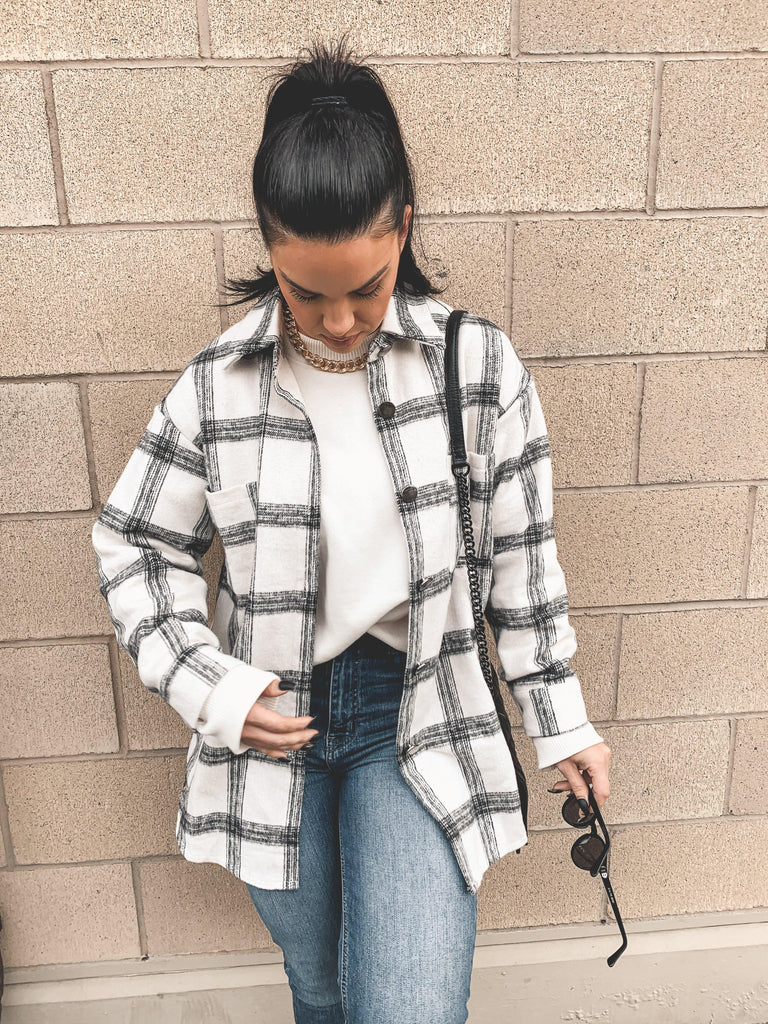oversized flannel outfit street style
