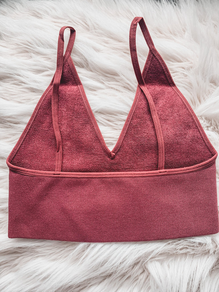 seamless ribbed bralette loungewear