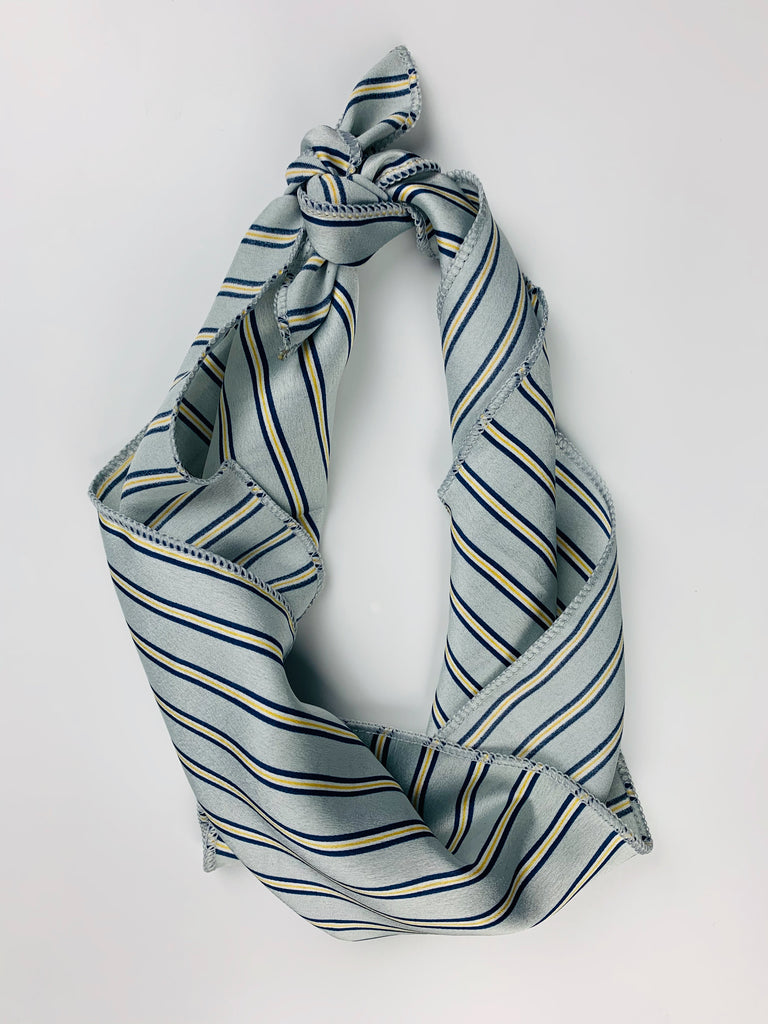 Flhair Blue Pin Stripe Scarf