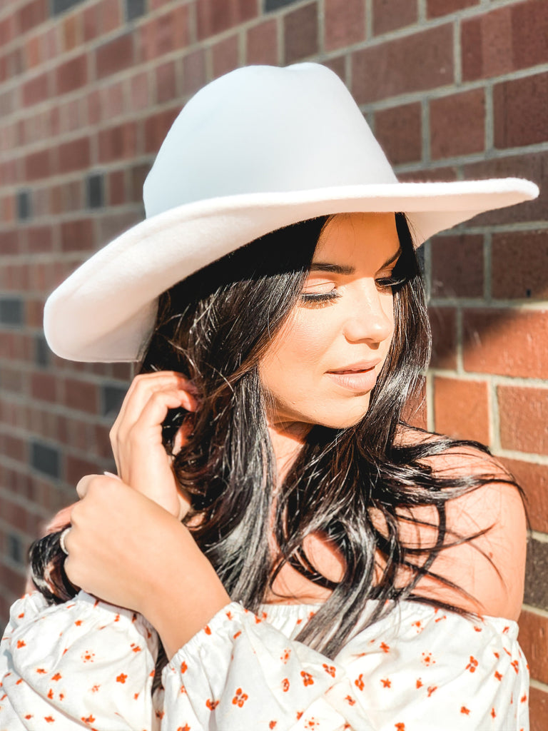 white western style cowboy hat