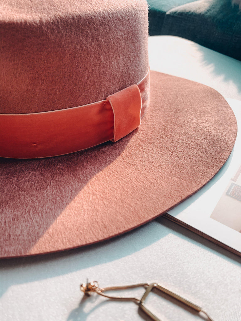 wyeth boater hat pink