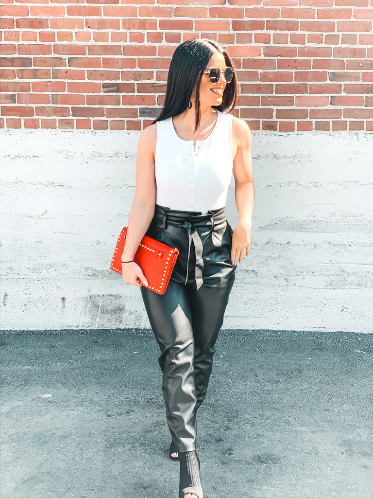 leather pants outfit trendy style