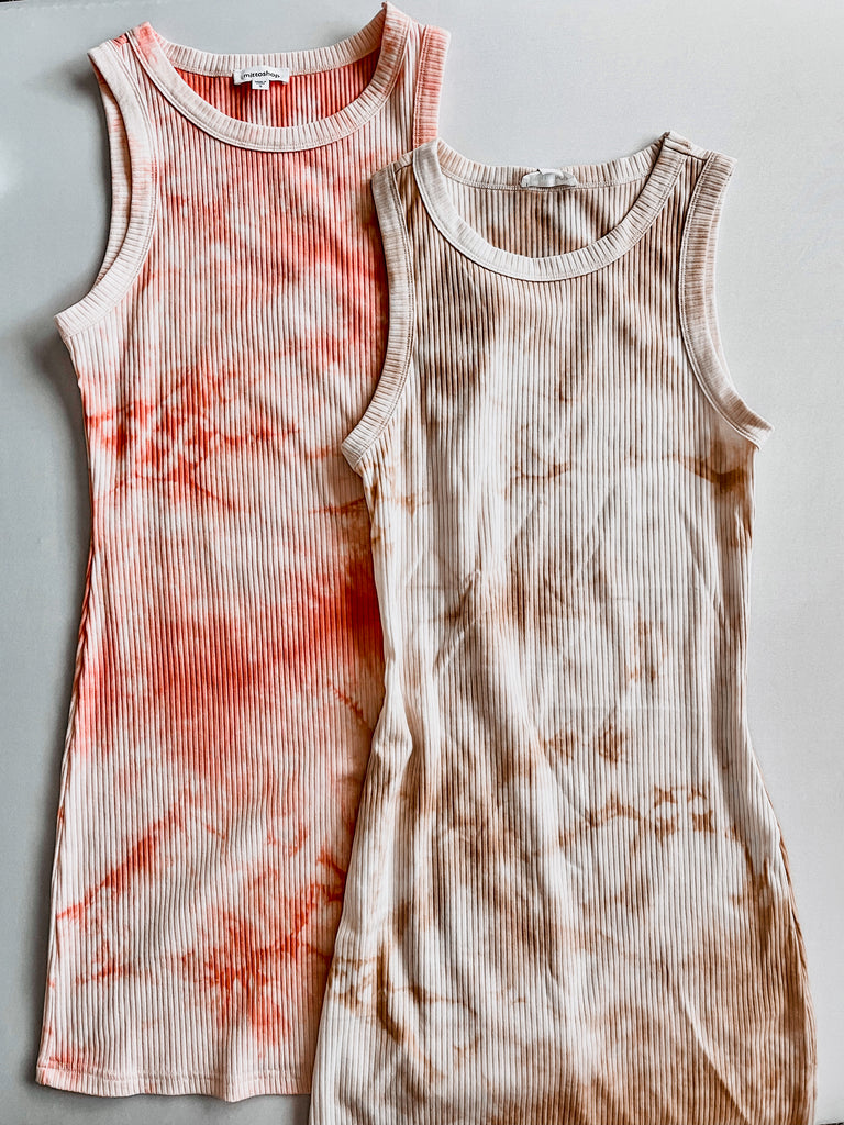Ribbed Tie Dye Dress