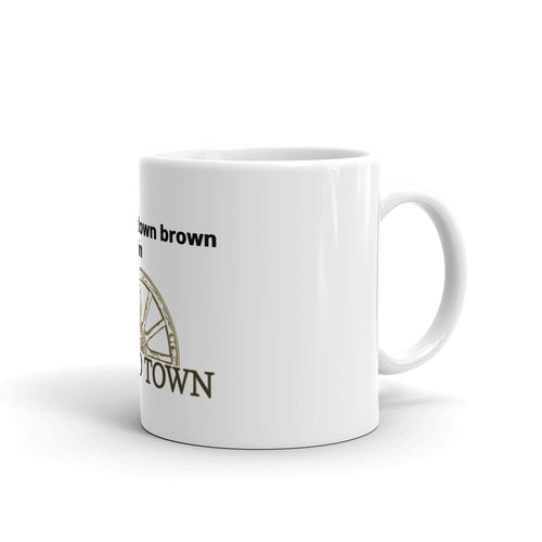 Coffee mug for pounding down brown in Pound Town
