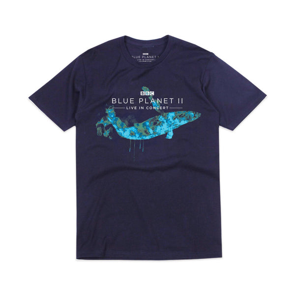 WATERCOLOUR WHALE NAVY T-SHIRT