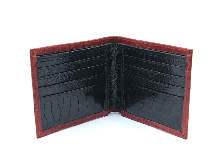 Ostrich & Crocodile Leather Billfold Wallet (Limited Edition)